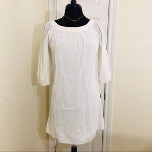 Diane von Furstenberg | Boatneck White Dress Sz 2